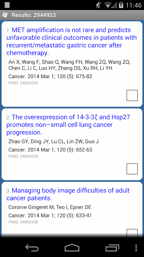 PubMed Mobile - screenshot