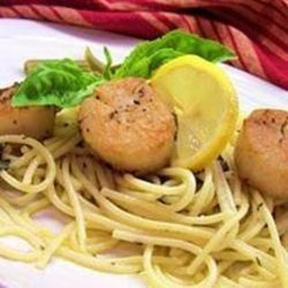 Buttered Pasta with Scallops Recipe