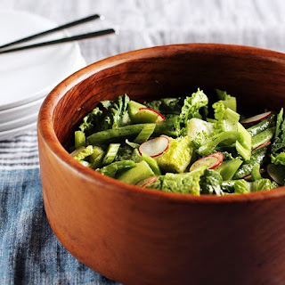 Crunchy Spring Salad with Dill Dressing.