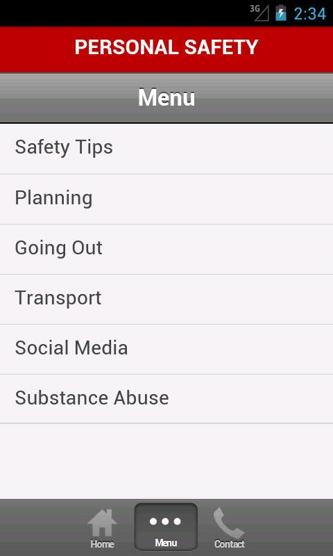 Personal Safety - screenshot