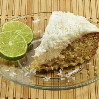 Pina Colada Cake w/ Mascarpone-Coconut Frosting
