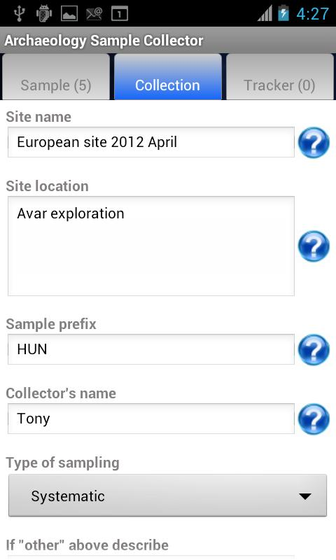 Archaeology Sample Collector- screenshot