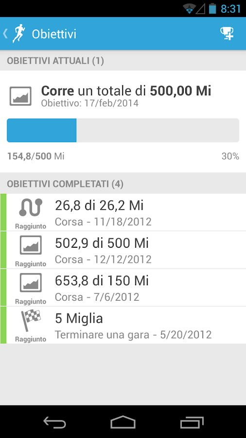 RunKeeper - GPS Correre - screenshot