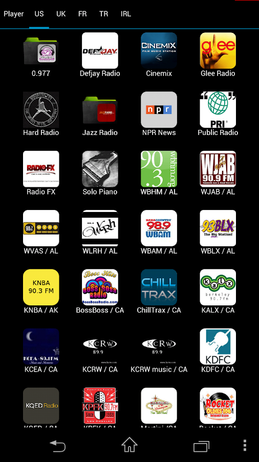 Web Radio Player- screenshot