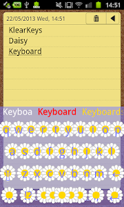 KlearKeys Daisy Keyboard screenshot 0