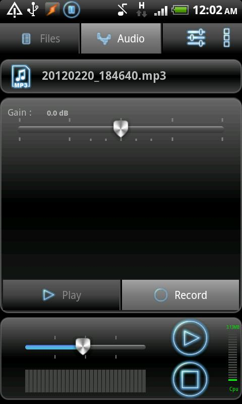 RecForge Lite - Audio Recorder – Capture d'écran