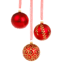 Christmas Ornament Red icon
