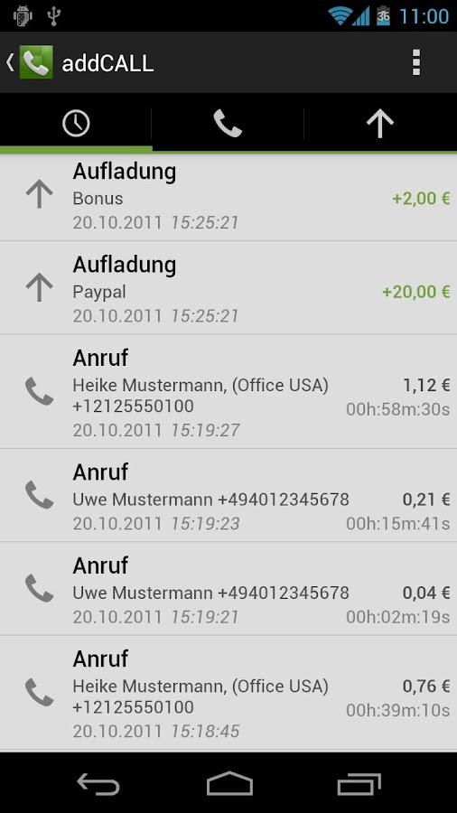 addCALL - Günstig telefonieren - screenshot