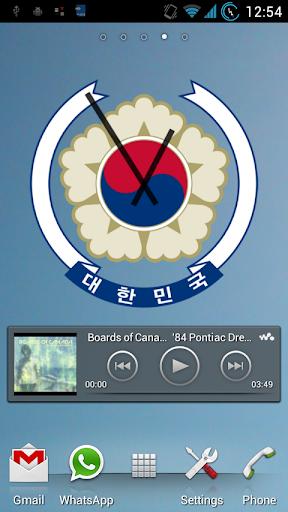 South Korea Clock Widgets Pack