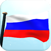 Russia Flag 3D Free Wallpaper