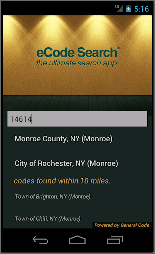 eCode Search