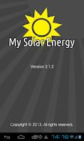 Screenshot of My Solar Energy
