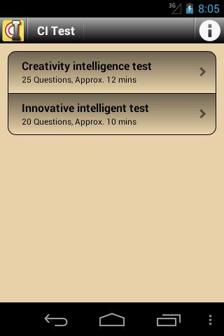 CI Intelligence Test