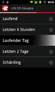 Feuerwehreinsätze LFK OÖ – Miniaturansicht des Screenshots