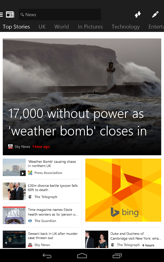 msn news � breaking headlines � android apps on google play