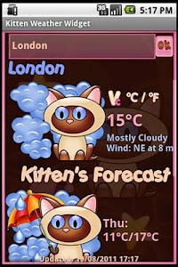 Kitten  Weather Widget screenshot 1