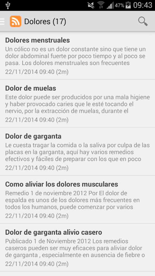 Remedios caseros- screenshot