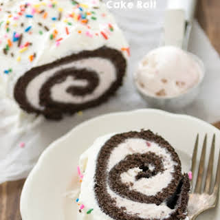 {Neapolitan} Ice Cream Cake Roll.