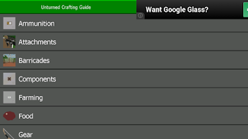 Screenshot of Unturned Crafting Guide