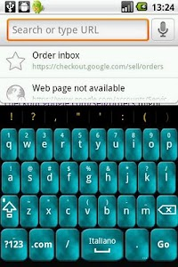 Aqua Foggy Keyboard Skin screenshot 0