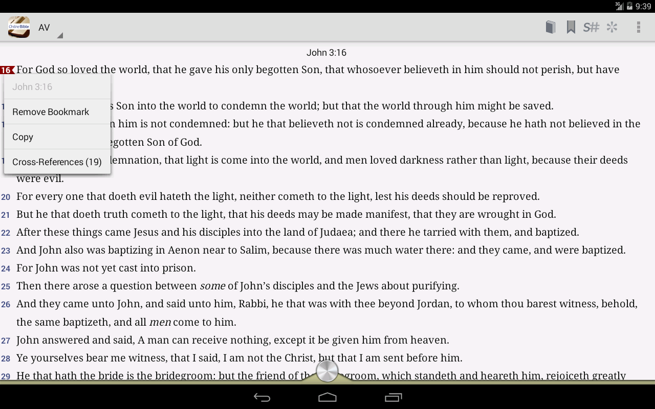 Online Bible- screenshot