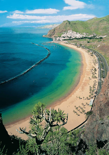 beach-Santa-Cruz-de-Santiago-de-Tenerife-Canary-Islands - Head to Santa Cruz de Santiago de Tenerife, or Santa Cruz, the capital of Spain's Canary Islands, for a serene getaway on its long, beautiful beaches.
