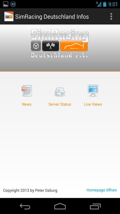 SimRacing Deutschland Info App - screenshot