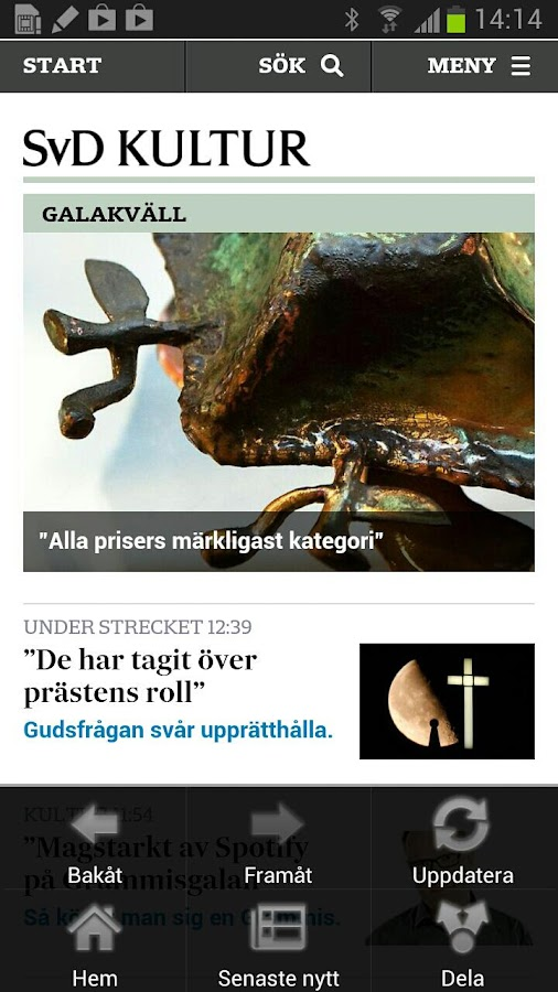 Svenska Dagbladet - screenshot