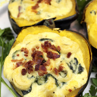Bacon, Gouda & Tortellini Stuffed Squash
