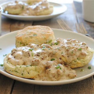 Herbed Buttermilk Biscuits with Sausage Gravy