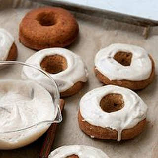 Banana Doughnuts with Banana Frosting.