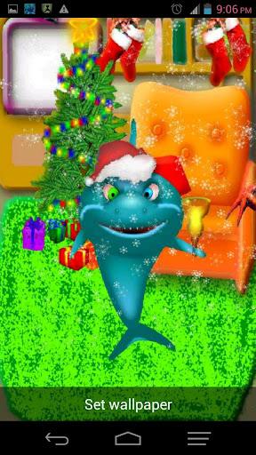 聖誕節成套裝備的鯊魚寵物
