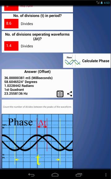 Oscilloscope Mate- screenshot