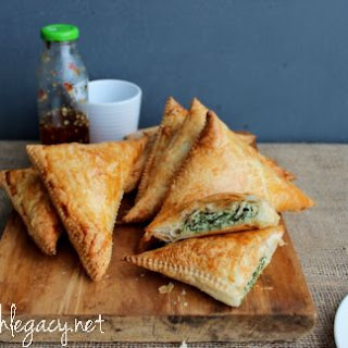 Spinach and Ricotta Triangles.
