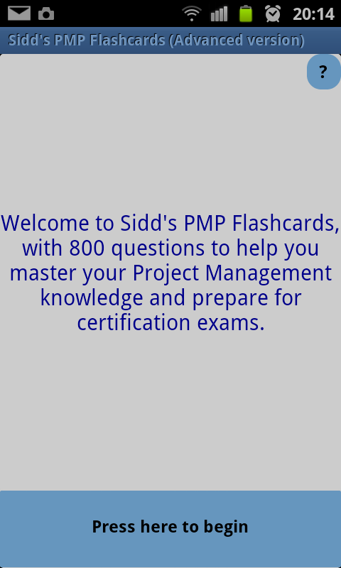 Sidd's PMP Flashcards Advanced- screenshot