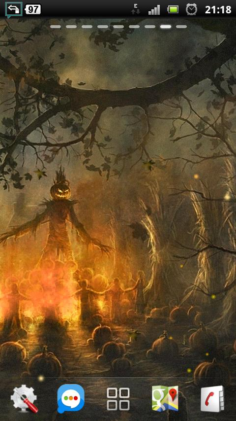 halloween camp fire LWP - screenshot