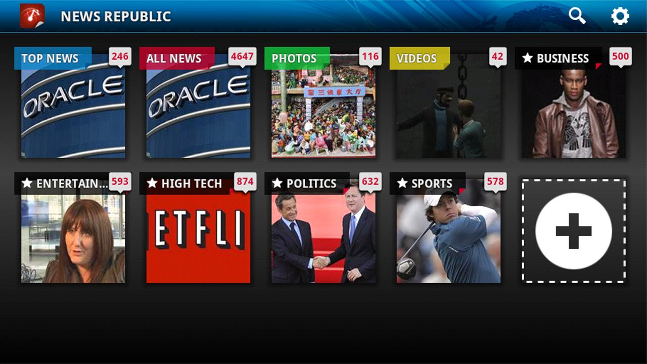 News Republic for Google TV - screenshot