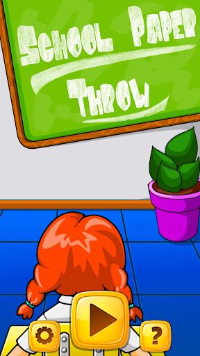 在课堂里扔纸球
