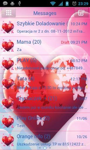 GO SMS Pro Hearts Theme
