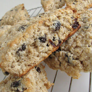 Cinnamon-Raisin Oatmeal Scones.