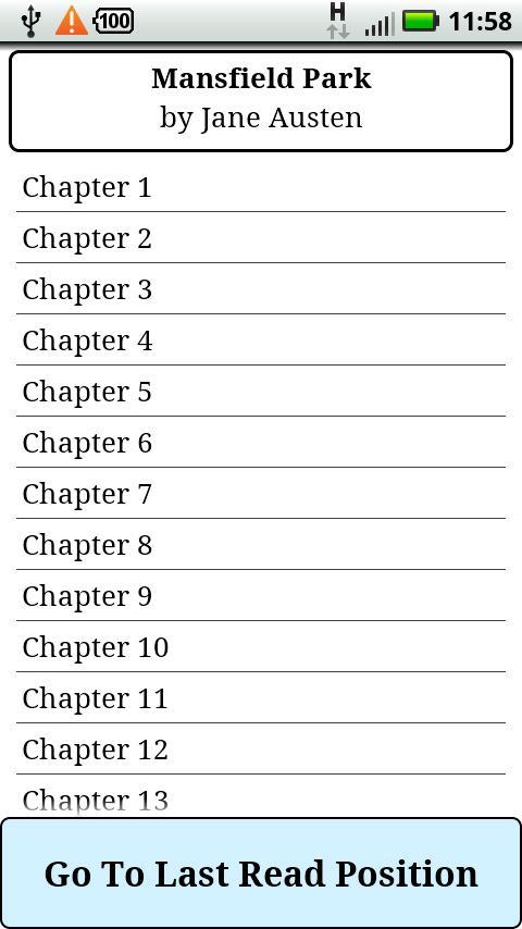 Jane Austen Novels Complete- screenshot