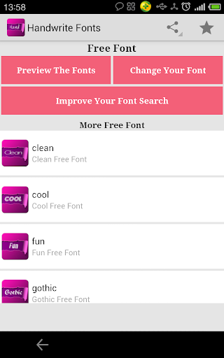 Handwrite fonts for FlipFont