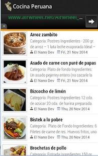 Cocina Peruana - náhled