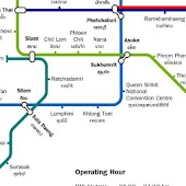 Bangkok Skytrain Subway MAP HD