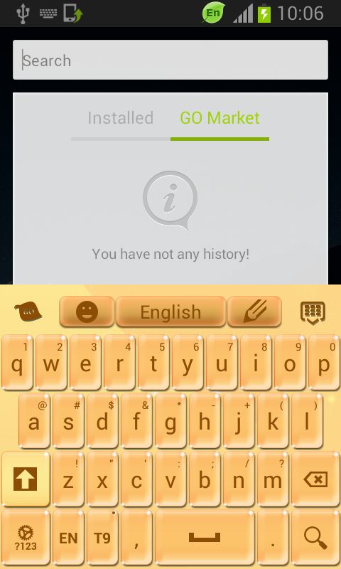 Keyboard Yellow - screenshot
