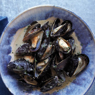 Coconut-Curry Mussels.