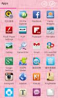 Screenshot of Launcher 8 theme:Love