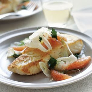 Halibut with Grapefruit, Parsley and Fennel.