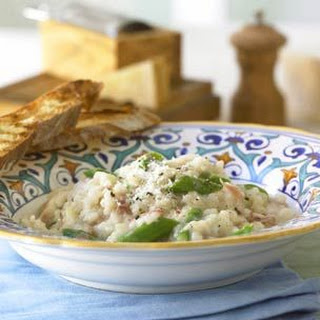 Risotto with Prosciutto and Asparagus.