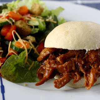 Slow Cooker Honey Barbecue Chicken Sandwiches.